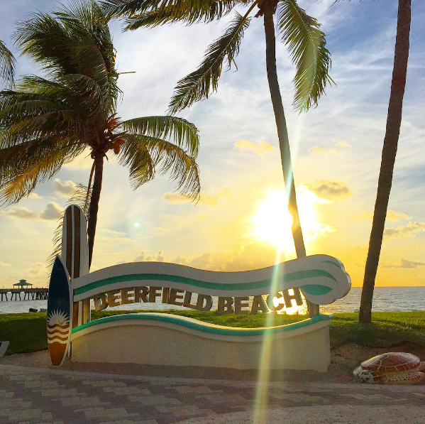 Deerfield Beach Monument Sign