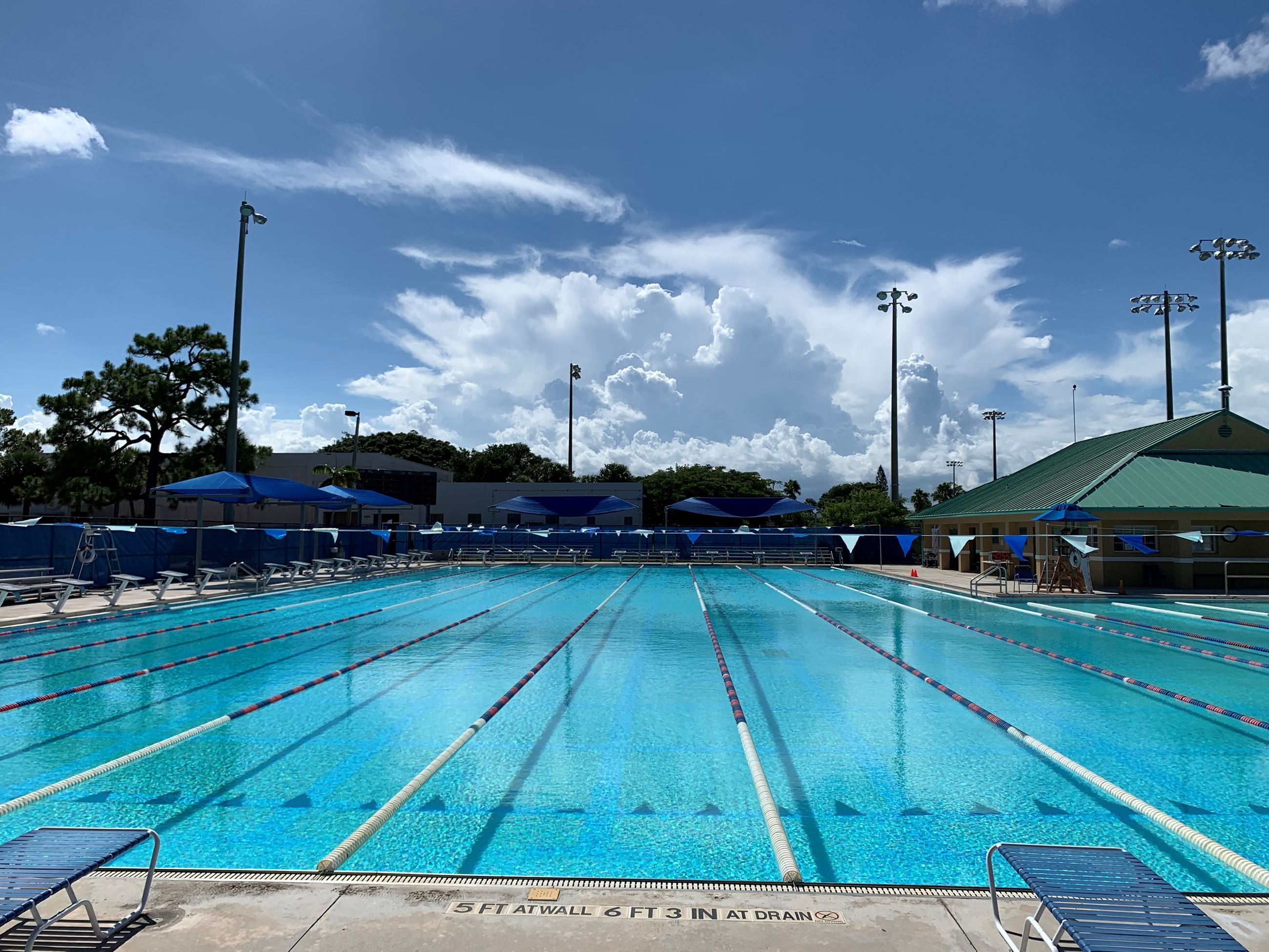 Aquatic Center east to west